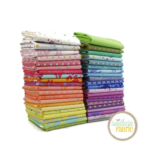 True Colors 2020 Fat Eighth Bundle (42 pcs) by Tula Pink for Free Spirit (TP.TC2020.F8)