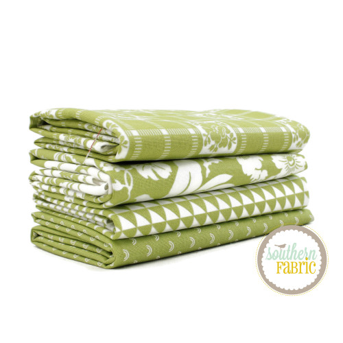 Shine On - Green Fat Quarter Bundle (4 pcs) by Bonnie and Camille for Moda (BC.SH.GR.FQ)
