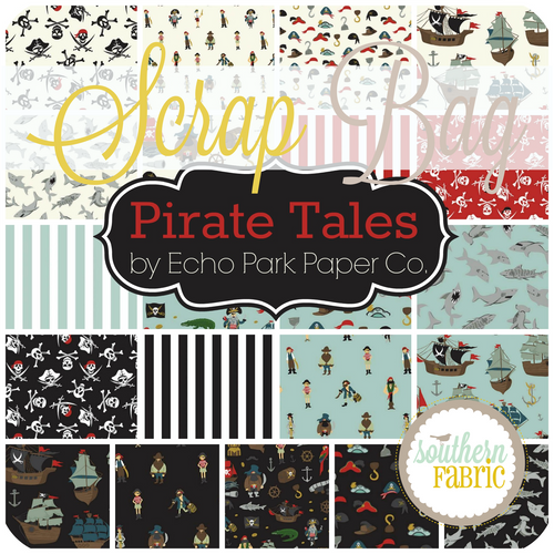 Pirate Tales Scrap Bag (approx 2 yards) by Echo Park Paper Co. for Riley Blake (EPP.PL.SB)
