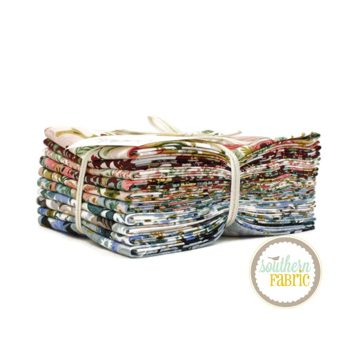 Garden Party Fat Quarter Bundle (10 pcs) by Rifle Paper Co. for Cotton and Steel (RP522P-FQB)