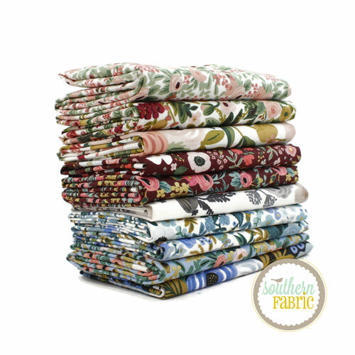 Garden Party Fat Quarter Bundle (10 pcs) by Rifle Paper Co. for Cotton and Steel (RPC.GP.FQ)