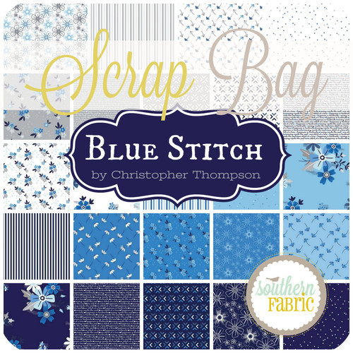 Blue Stitch Scrap Bag (approx 2 yards) by Christopher Thomas for Riley Blake (CT.BS.SB)
