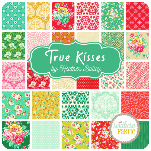 True Kisses Fat Quarter Bundle (28 pcs) by Heather Bailey for Figo Fabrics (FF.TK.HB.FQ)