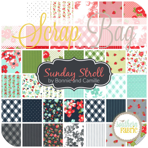 Sunday Stroll Scrap Bag (approx 2 yards) by Bonnie & Camille for Moda (BC.SS.SB)