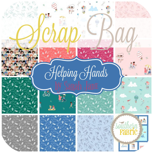 Helping Hands Scrap Bag (approx 2 yards) by Sarah Jane for Michael Miller (SJ.HH.SB)