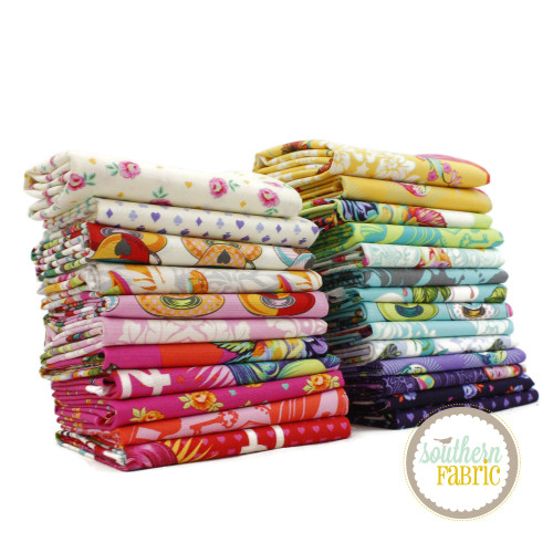 Curiouser and Curiouser Fat Quarter Bundle (25 pcs) by Tula Pink for Free Spirit (TP.CC.FQ)