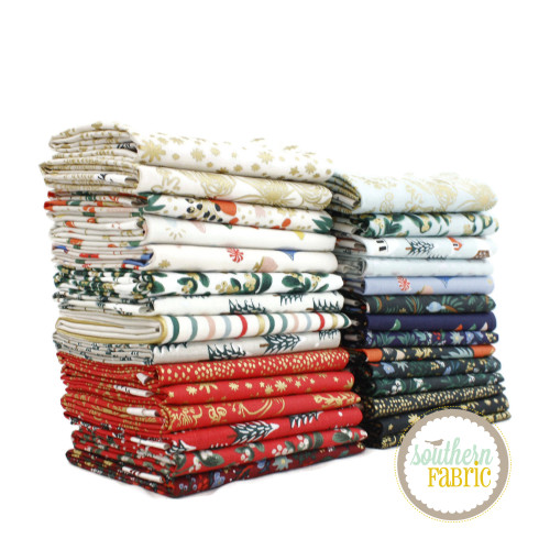 Holiday Classics Fat Quarter Bundle (29 pcs) by Rifle Paper Co. for Cotton and Steel (RPC.HC.FQ)