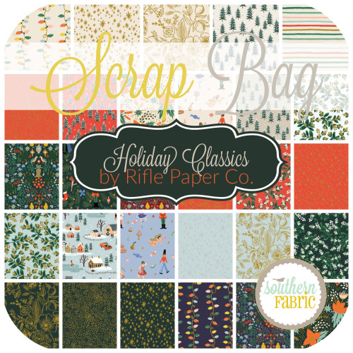 Holiday Classics Scrap Bag (approx 2 yards) by Rifle Paper Co. for Cotton and Steel (RPC.HC.SB)