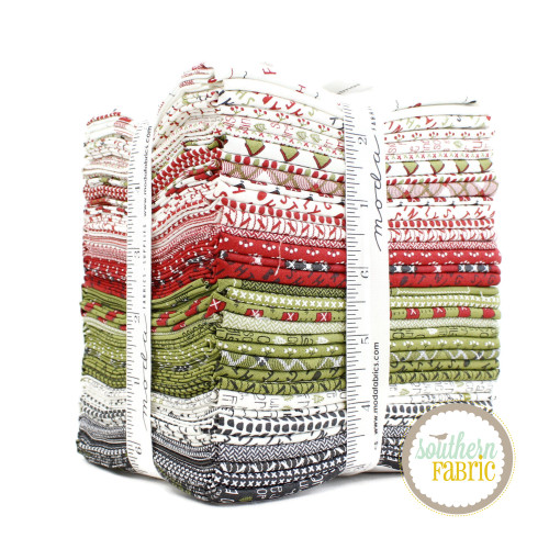 Red Barn Christmas Fat Quarter Bundle (34 pcs) by Sweetwater for Moda (55530AB)