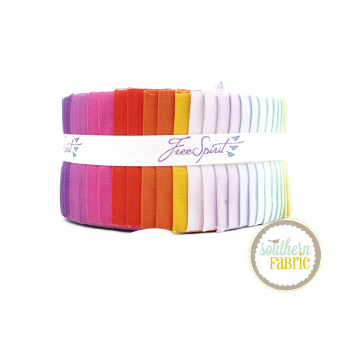 Tula Pink Solids - Mythical Jelly Roll (40 pcs) by Tula Pink for Free Spirit (FB4DRTP.MYTHICAL)