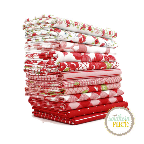 Sunday Stroll - Red Half Yard Bundle (12 pcs) by Bonnie & Camille for Moda (BC.SS.RE.HY)