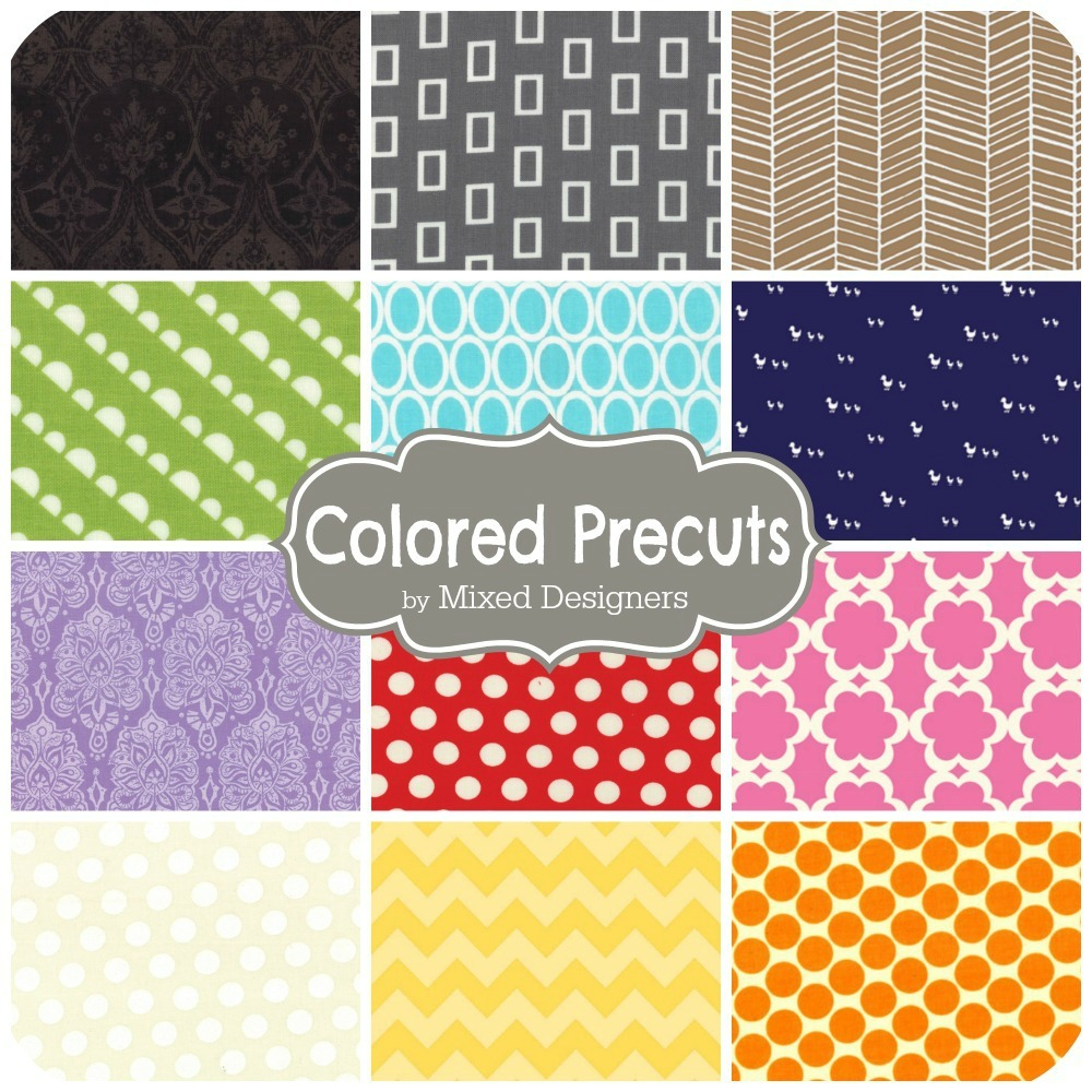Colored Precuts by Mixed Designers