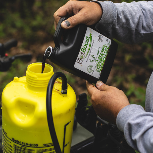 DeerGro PlotBoost in to sprayer