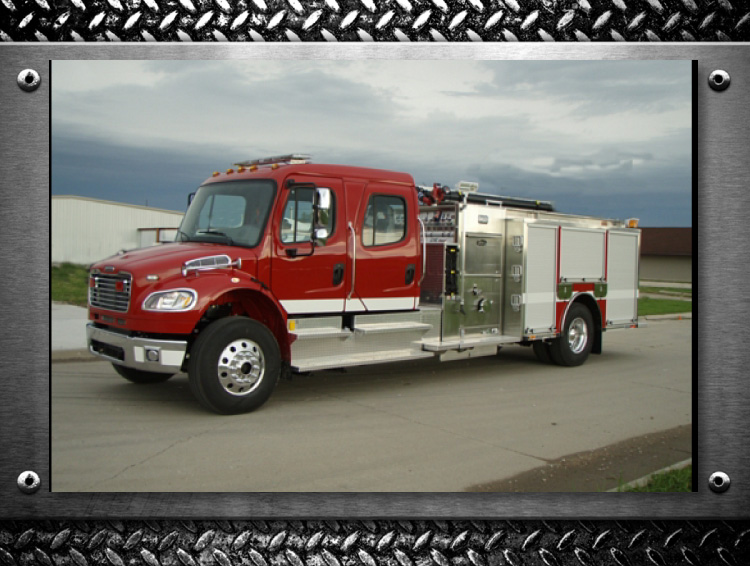 Toyne Trucks built for your Fire Department - Grant Nebraska