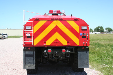 sidney-hemit-back-view refurbished truck for fire department