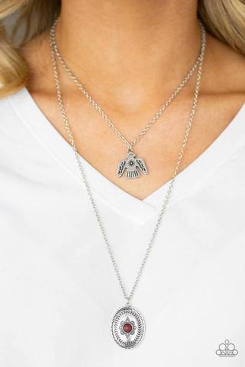 Desert Eagle Paparazzi Necklace Blue