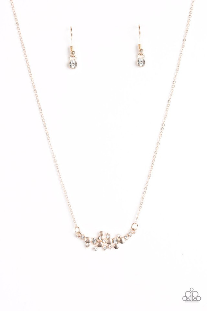 Star Gazing Shimmer Rose Gold Paparazzi Necklace 5 Dollar Frosting