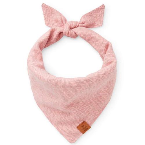 Pink Herringbone Flannel Bandana