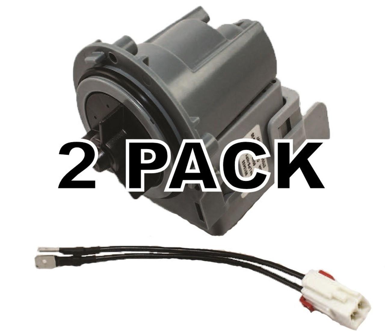 2 Pk, Universal Washing Machine Drain Pump for Frigidaire, GE, Whirlpool,  DP1 - Seneca River Trading, Inc.   Ge Washing Machine Pump Wiring      Seneca River Trading, Inc.