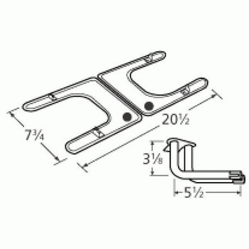 Gas Grill Burner, Stainless Steel, for Fiesta, 19202-79402