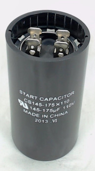 Start Capacitor, Round, 145-175 Mfd., 110 Volt, CS145-175X110