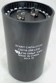 Start Capacitor, Round, 216-259 Mfd., 330 Volt, CS216-259X330