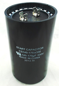 Start Capacitor, Round, 145-175 Mfd., 330 Volt, CS145-175X330
