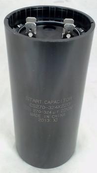 Start Capacitor, Round, 270-324 Mfd., 220 Volt, CS270-324X220