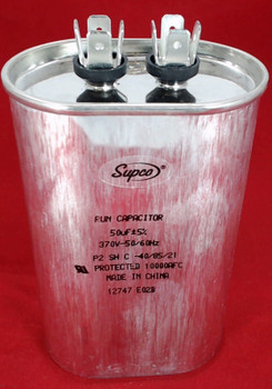 Run Capacitor, Oval, 50 Mfd., 370 Volt, CR50X370