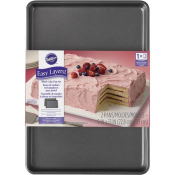 Wilton Easy Layers, 2 Piece Sheet Cake Pan Set, 9 X 13, 2105-5747