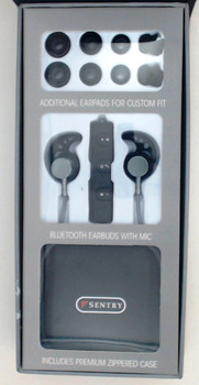 Sentry Bluetooth, Rechargeable, Metal Ear Buds with Built In Microphone, BX250GY