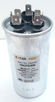 Packard Titan Pro Run Capacitor, Round, 30+5 Mfd, 440-370V, TRCFD305