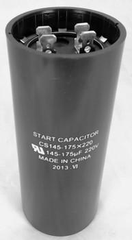 Start Capacitor, Round, 145-175 Mfd., 220 Volt, CS145-175X220