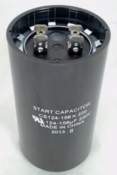 Start Capacitor, Round, 124-156 Mfd., 220 Volt, CS124-156X220