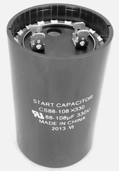 Start Capacitor, Round, 88-108 Mfd., 330 Volt, CS88-108X330
