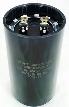 Start Capacitor, Round, 88-108 Mfd., 220 Volt, CS88-108X220