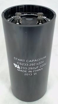 Start Capacitor, Round, 233-292 Mfd., 220 Volt, CS233-292X220