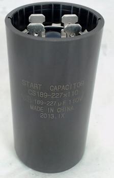 Start Capacitor, Round, 189-227 Mfd., 110 Volt, CS189-227X110