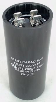 Start Capacitor, Round, 233-292 Mfd., 110 Volt, CS233-292X110