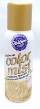 Wilton 1.5 Oz Gold Color Mist Shimmering Food Color Spray, 710-5520