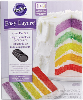 Wilton Easy Layers Cake Pan Set of 5, 2105-0112