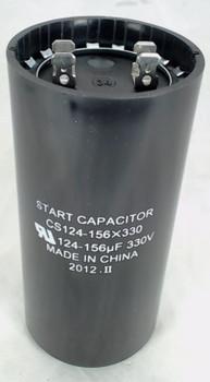 Start Capacitor, Round, 124-156 Mfd., 330 Volt, CS124-156X330