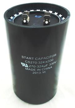Start Capacitor, Round, 270-324 Mfd., 330 Volt, CS270-324X330