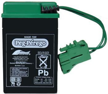 Genuine OEM Peg-Perego 6-Volt Battery, IAKB0509
