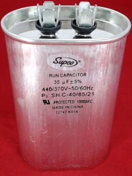 Run Capacitor, Oval, 35 Mfd., 440 Volt, CR35X440