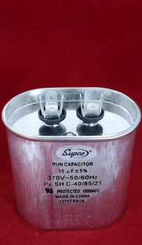Run Capacitor, Oval, 35 Mfd., 370 Volt, CR35X370
