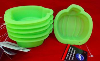 Wilton Silicone, 18 Pack Mini Pumpkin Molds, 2109-3263, WSMPM18PK