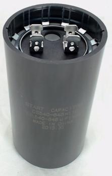 Start Capacitor, Round, 540-648 Mfd., 110 Volt, CS540-648X110