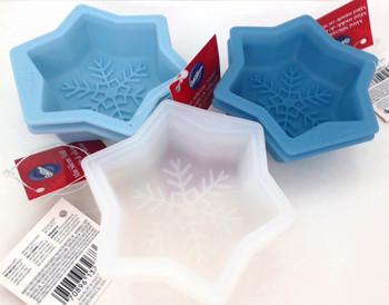 Wilton Silicone, 6 Pack Mini Snowflake Molds, WSMS6PK