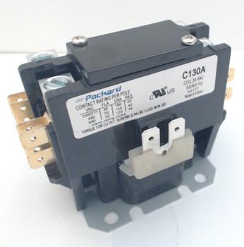 Packard Definite Purpose Contactor, 1 Pole, 30 Amps, 24 Coil Voltage, C130A